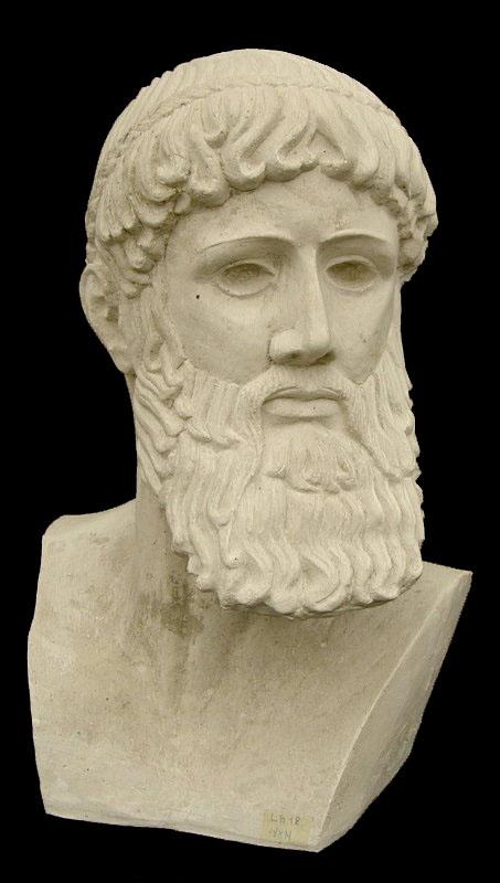 Zeus busto da giardino per esterno - Statue da giardino in resina ...
